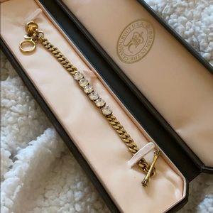 "Used, Juicy Couture gold ""diamond"" tennis bracelet"